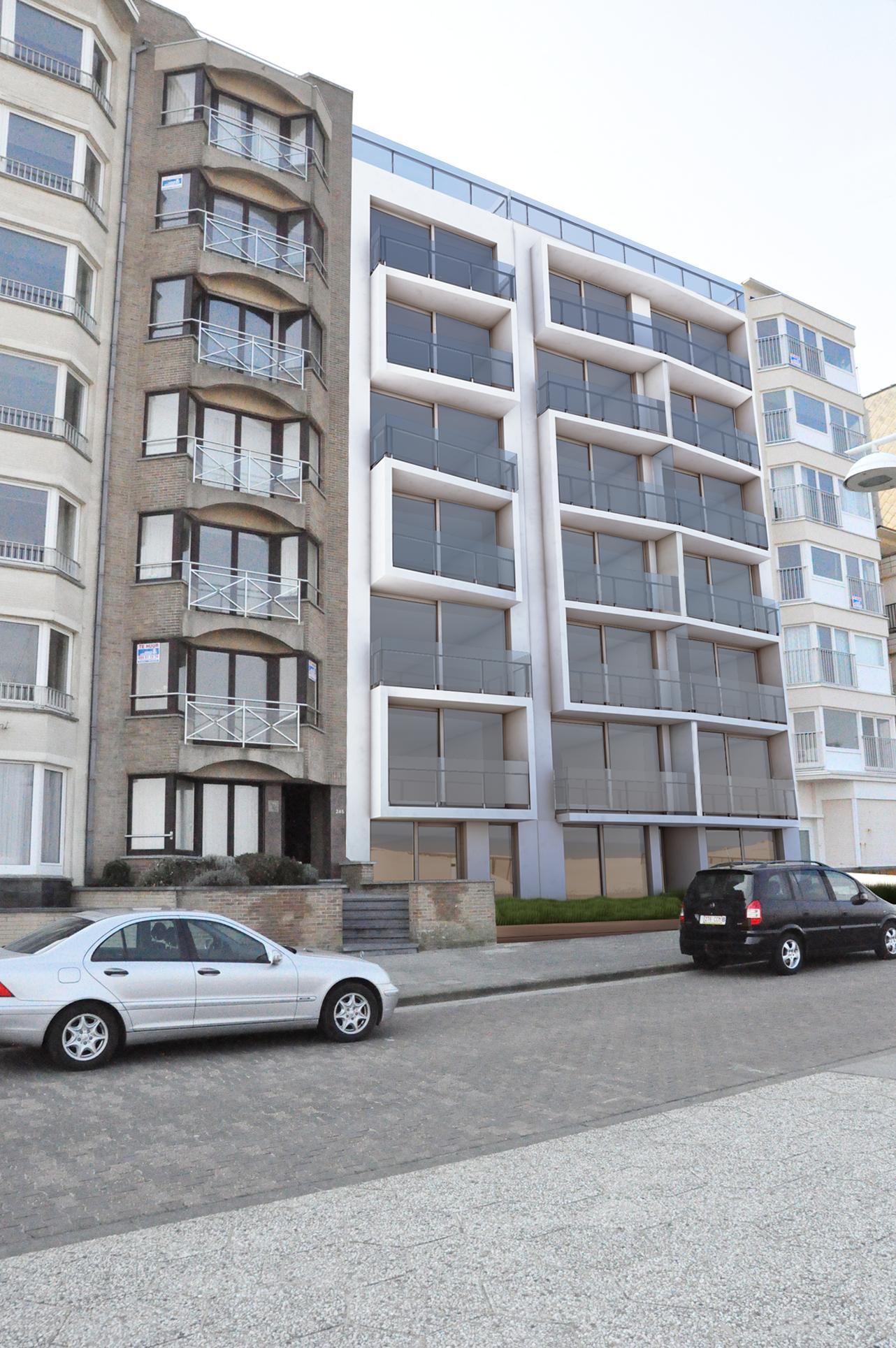 nouveau appartement avec 2 chambres sur la digue agence notre dame koksijde belgique. Black Bedroom Furniture Sets. Home Design Ideas